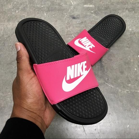 dd801afbbe55 Nike Benassi JDI Grade Hot Pinks Pre School PS GS